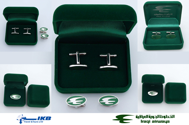 Iraqi Airways cufflinks and pins